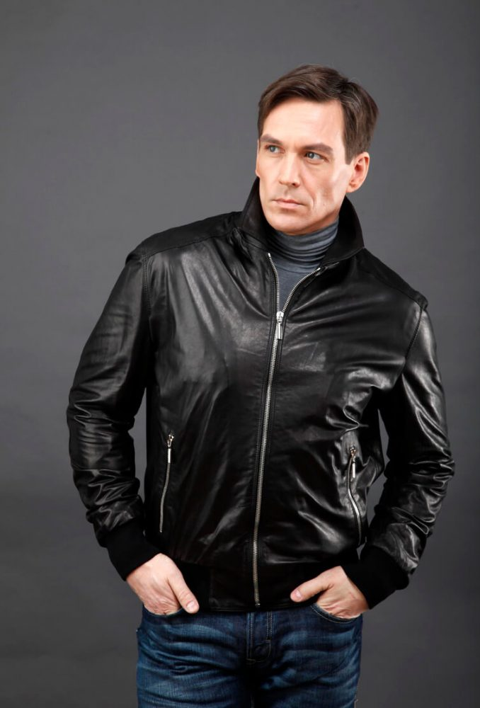 мужская кожаная куртка для полных мужчин